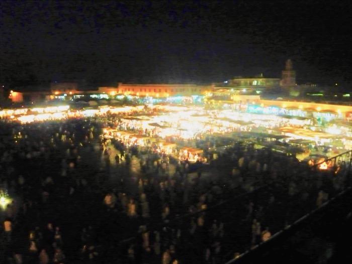 Ghid Vizitare Maroc jemaa el fna seara