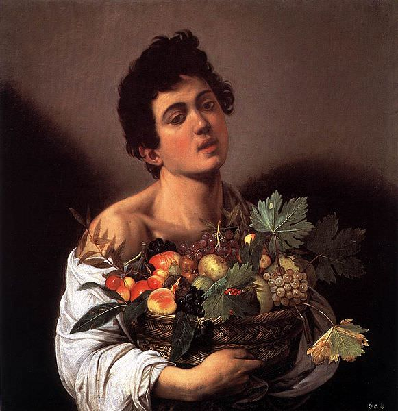 581px-Michelangelo_Merisi_da_Caravaggio_-_Boy_with_a_Basket_of_Fruit_-_WGA04074