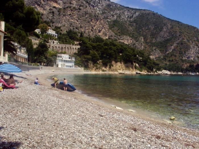 plaje frumoase pe Coasta de Azur Eze