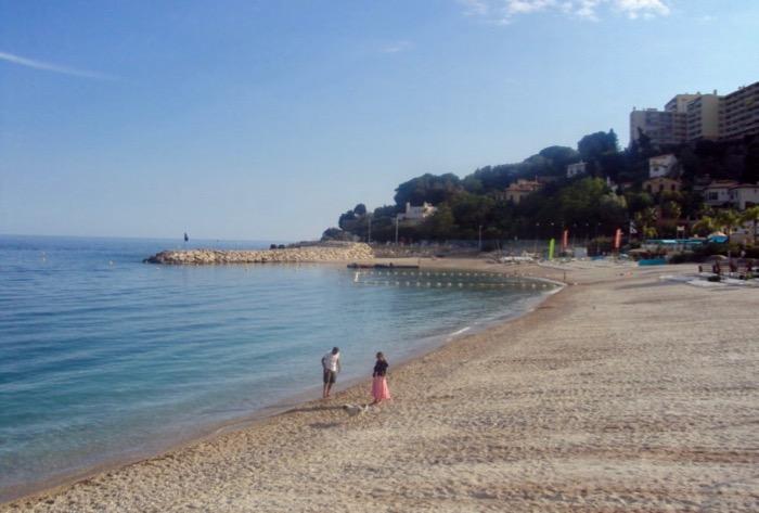 plaje frumoase pe Coasta de Azur Cap d'Ail