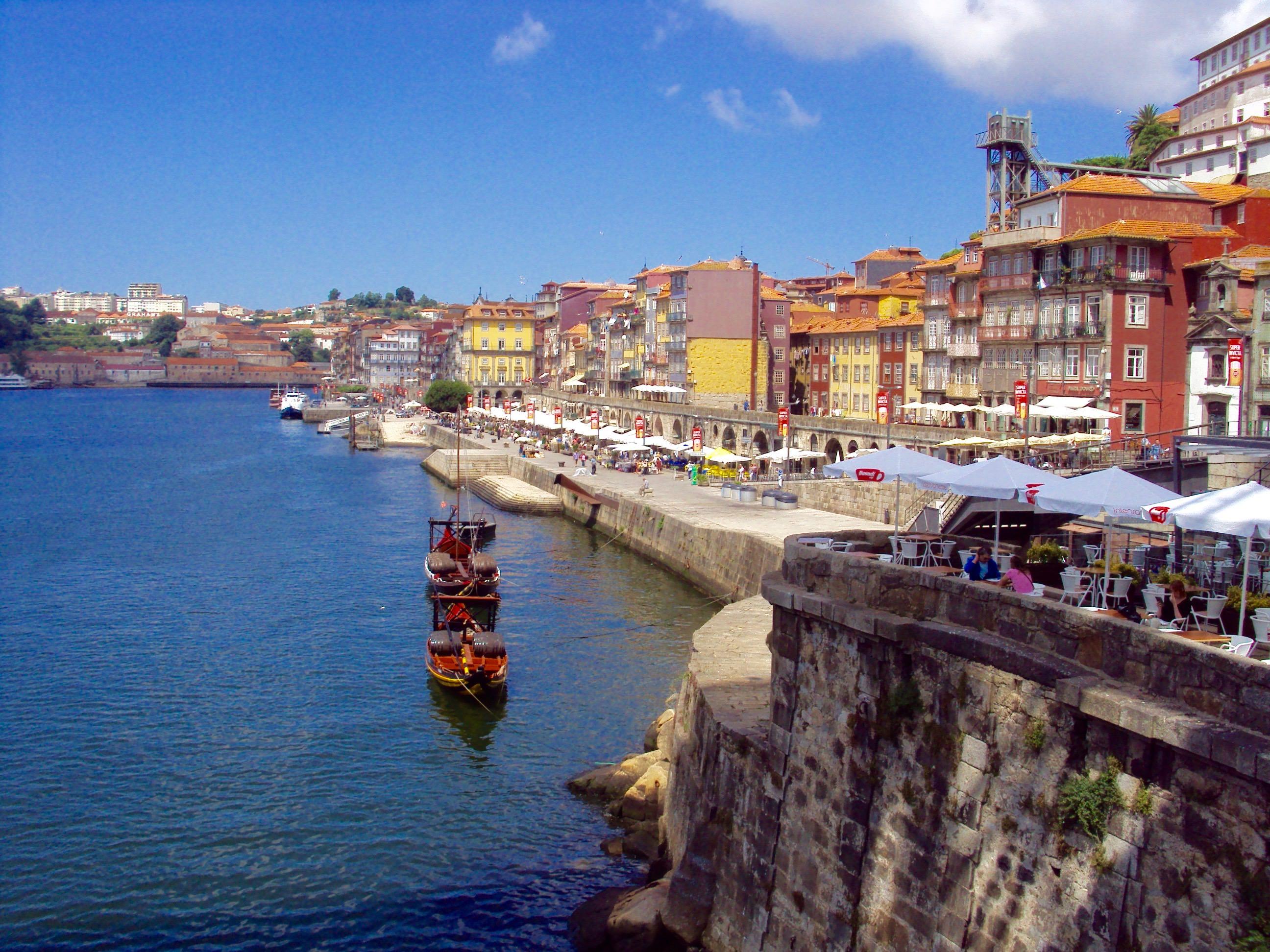 Cheile din Ribeira, Porto, vedere de pe Ponte Luis