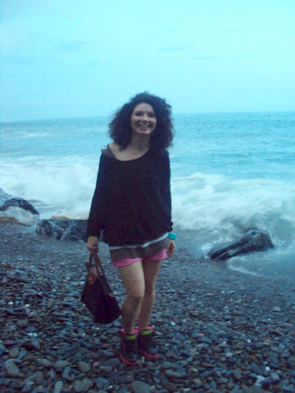 La plaja in Vernazza pe seară
