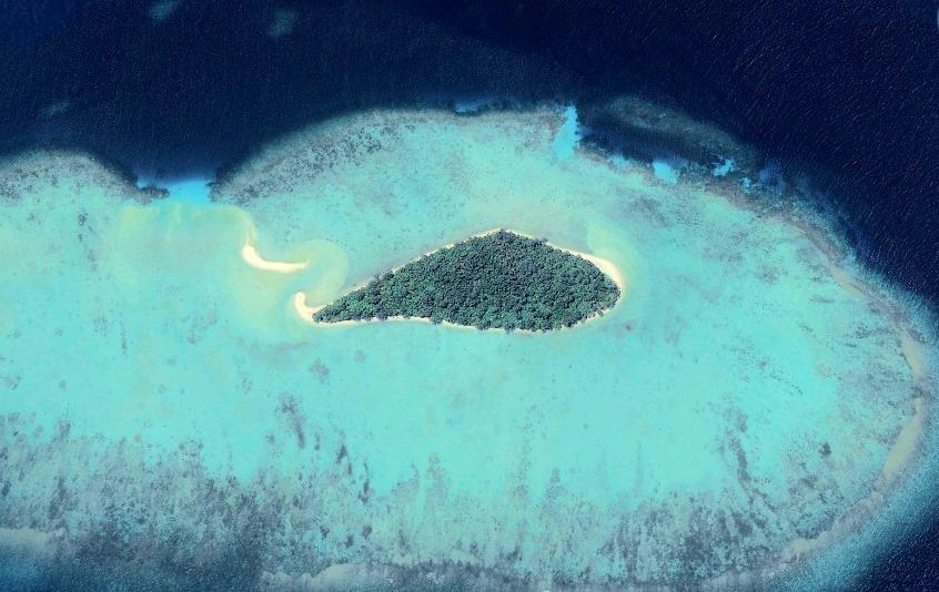Cemara Besar vedere din satelit