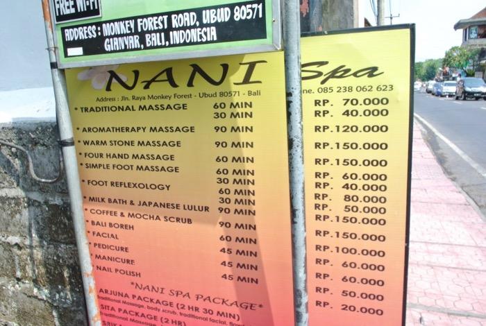 masaje lucruri de facut in Ubud Bali