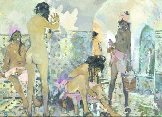 mantel-jean-gaston-1914-1995-f-scene-de-hammam-2321785
