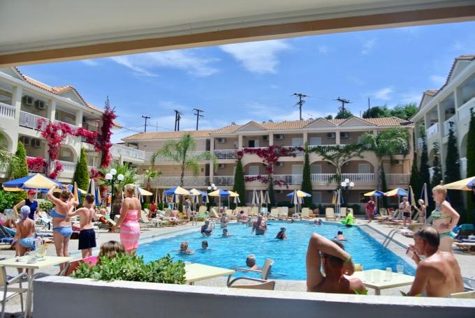 Tsilivi Zakynthos plaja hoteluri Hotel Admiral1 piscina