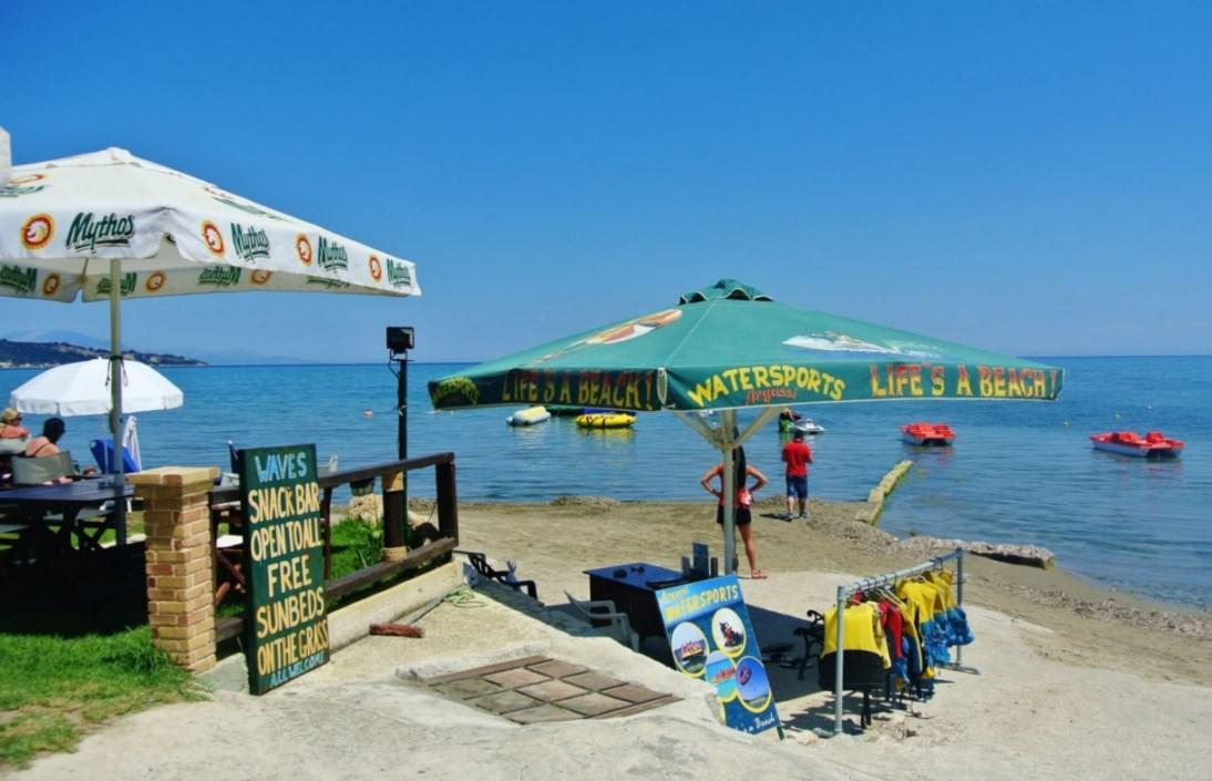 Plaja Argassi Zakynthos sporturi acvatice
