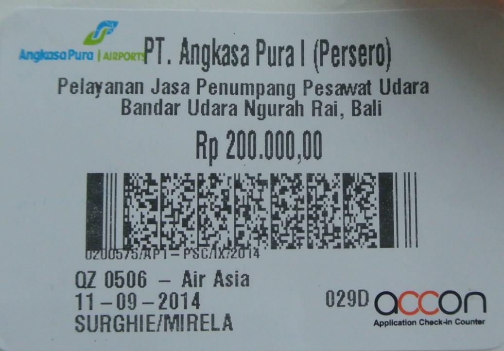 taxa iesire indonezia