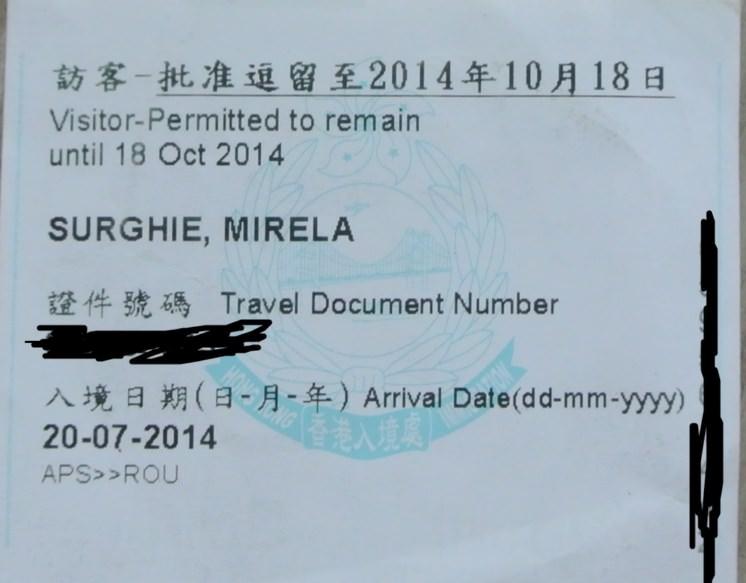 viza HK