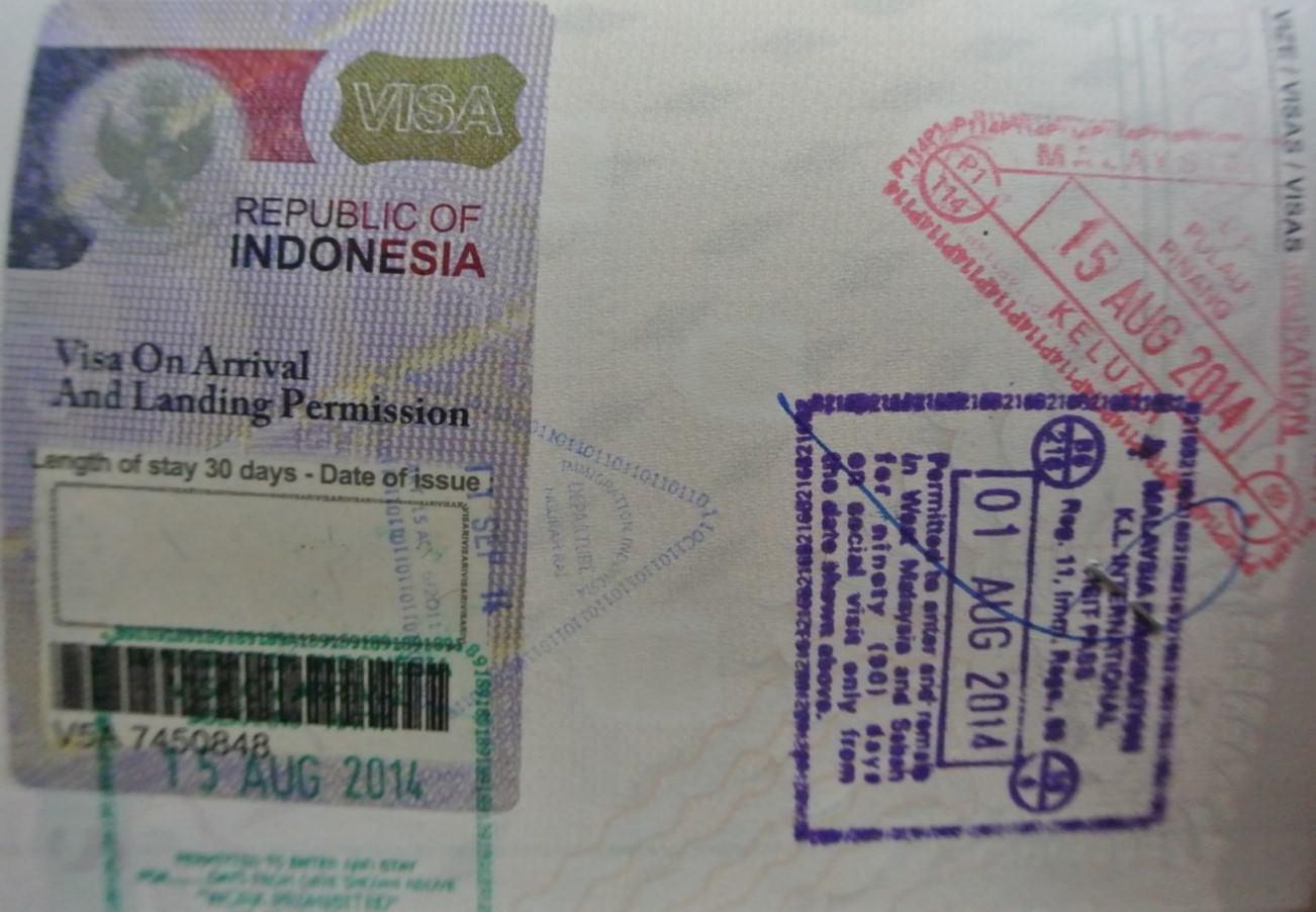 Viza Indonezia si malaezia