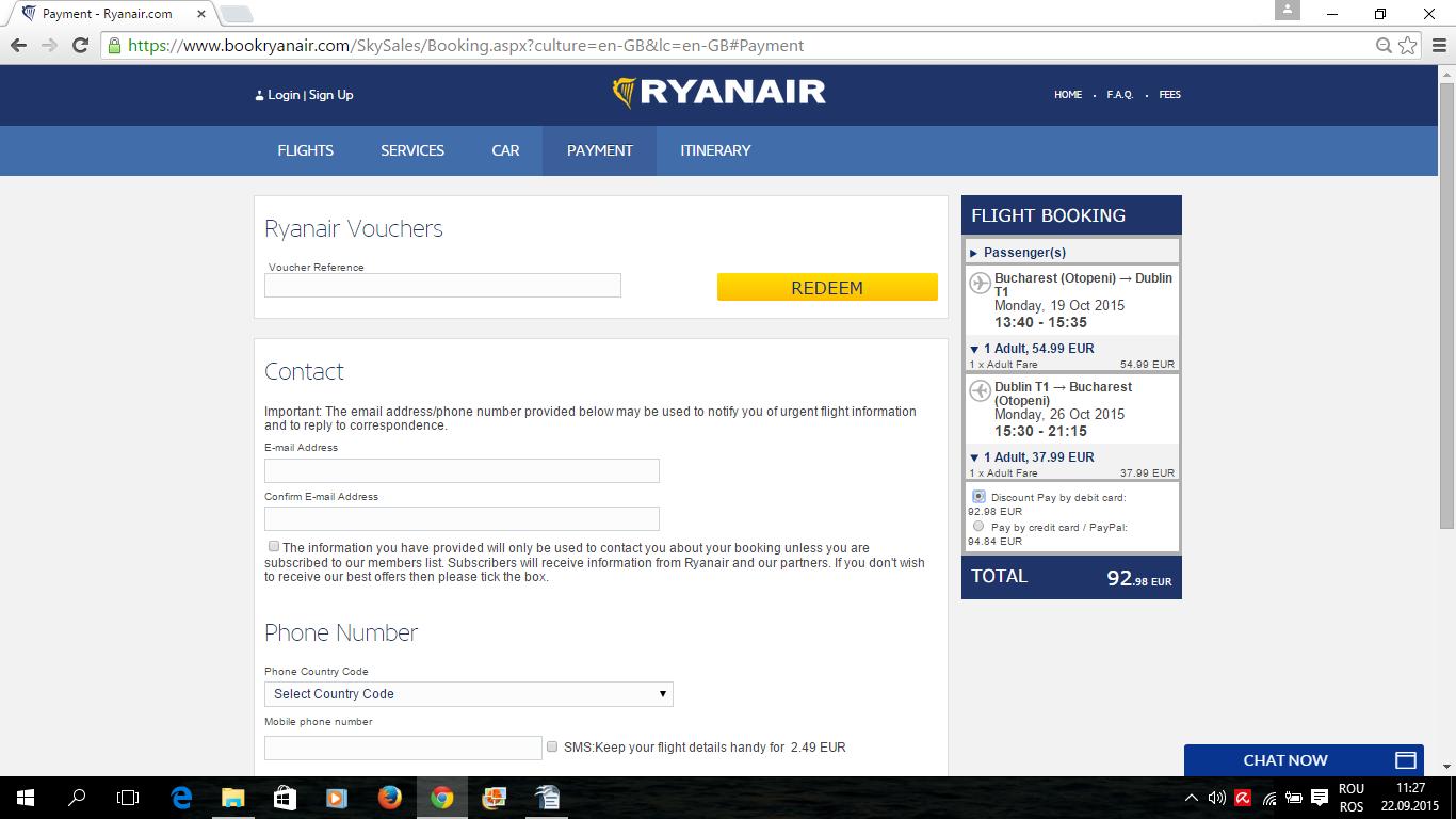 Rezervare si plata bilet de avion