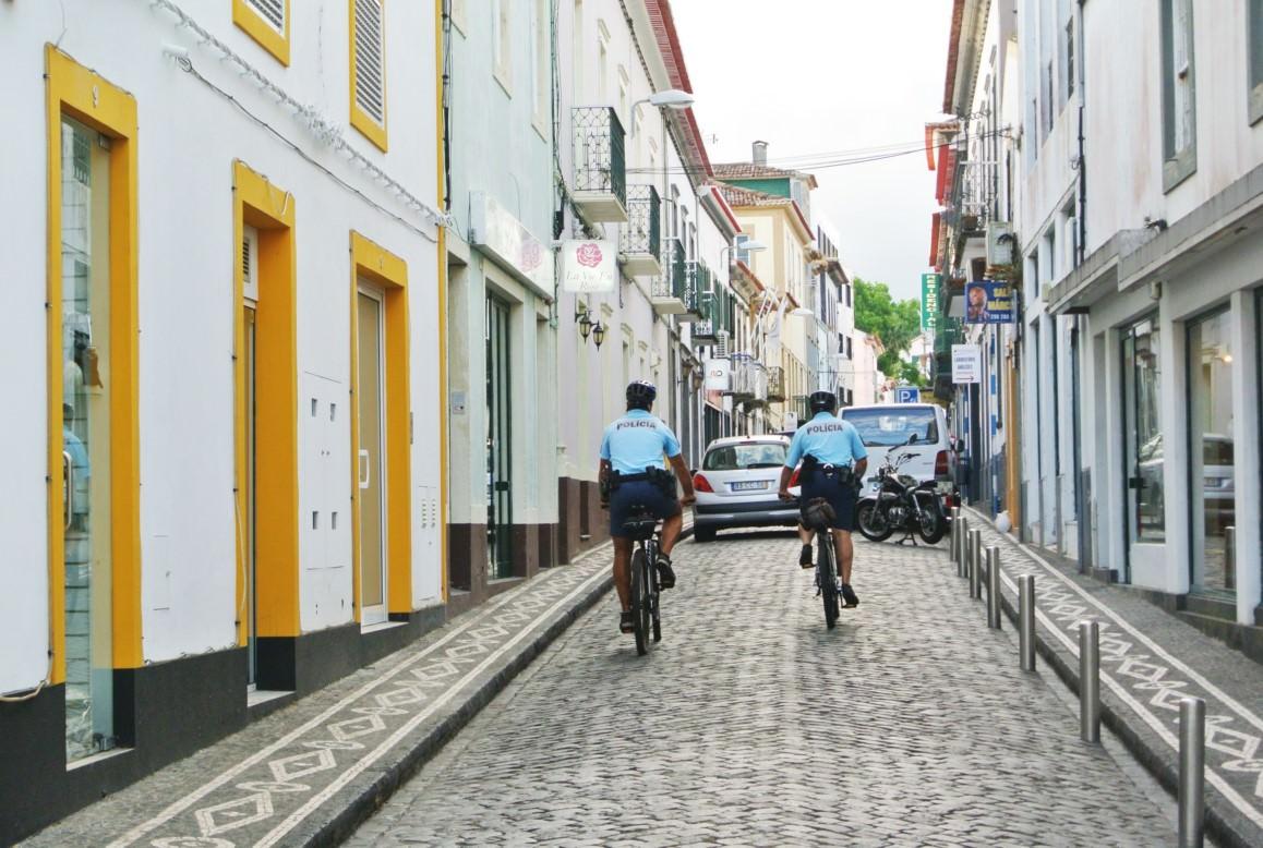 sao miguel ponta delgada politie biciclete