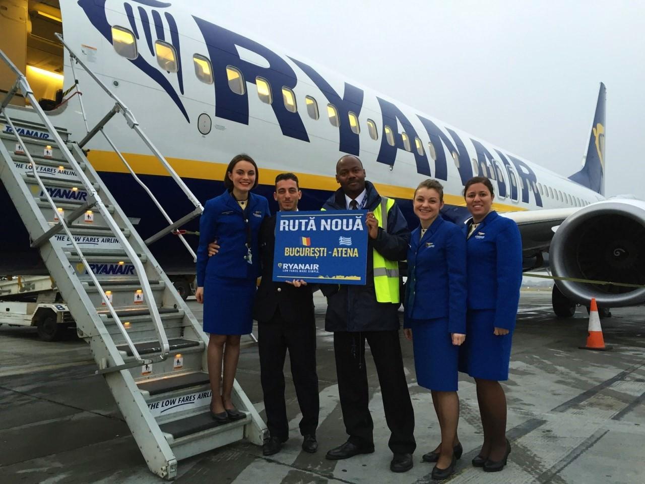 Ryanair Atena noua ruta