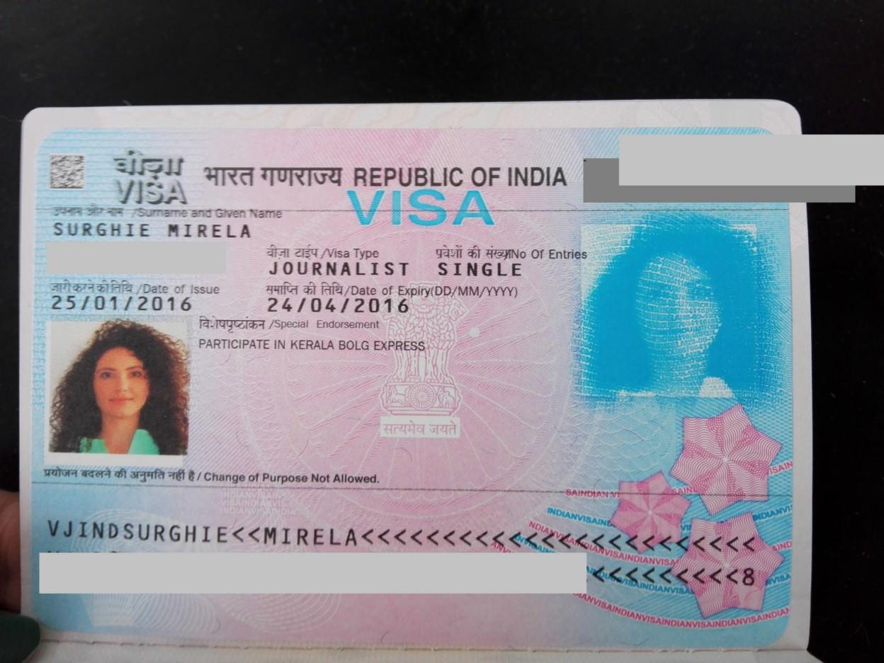 Viza Jurnalist India