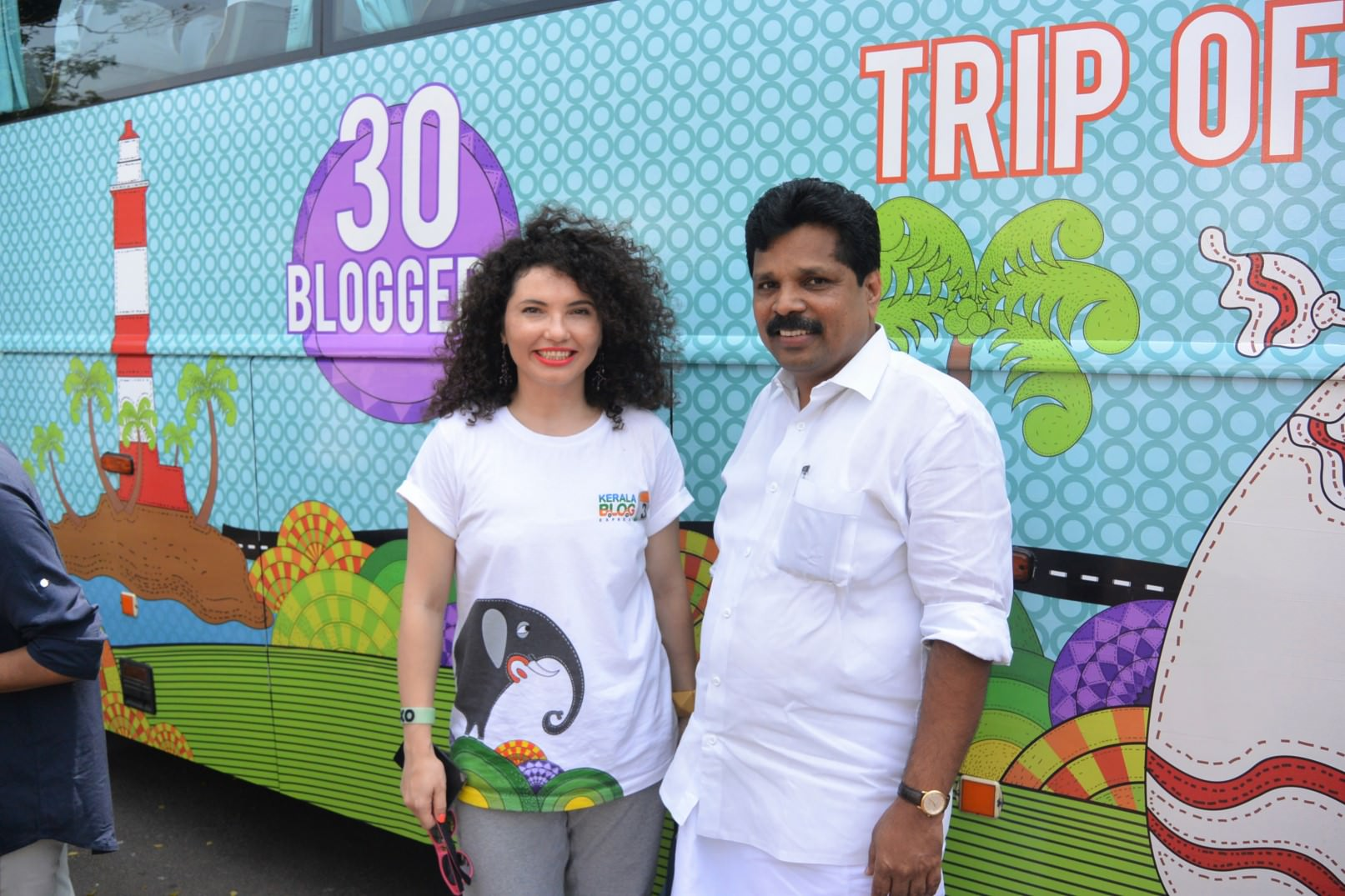 Mirela Surghie si Ministrul Turismului din Kerala Anil Kumar