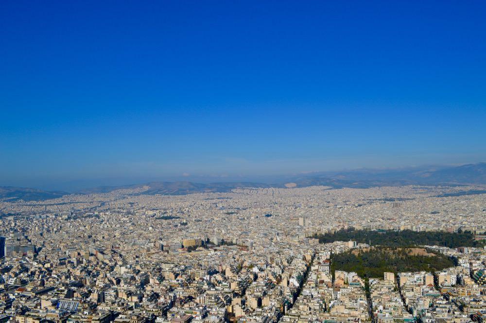 Vedere de pe dealul Lycabettus Atena