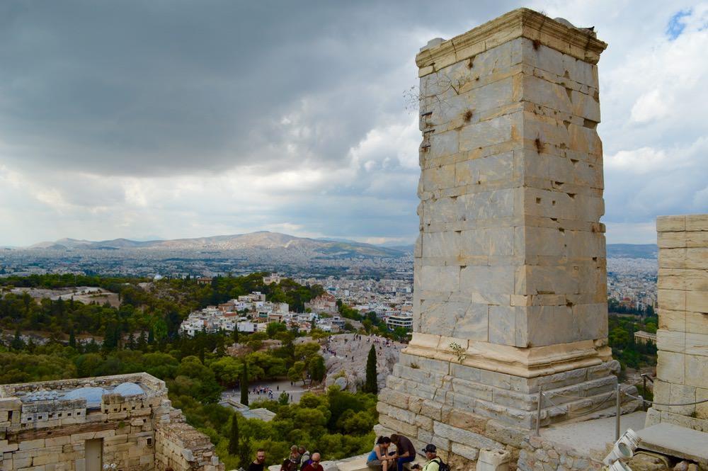 Atena de sus Acropole vedere