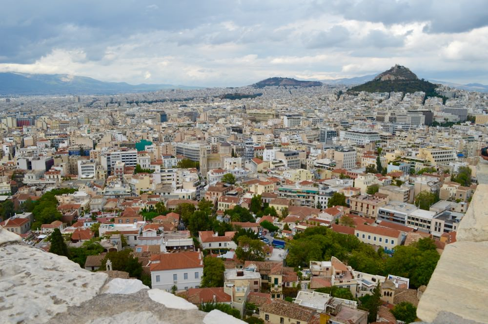 Vedere Atena de sus, Acropole