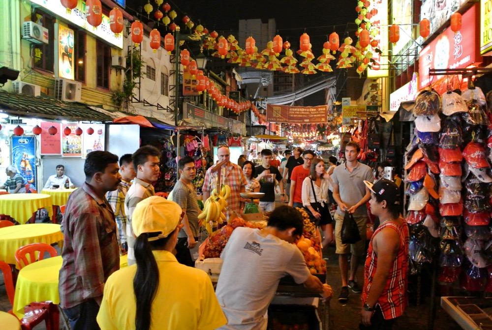 calatorit singura in Malaysia Kuala Lumpur cartierul chinezesc