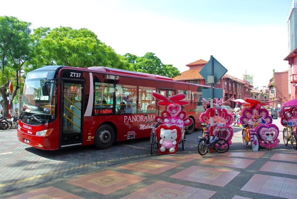 Singura in Malaysia Malacca colorful
