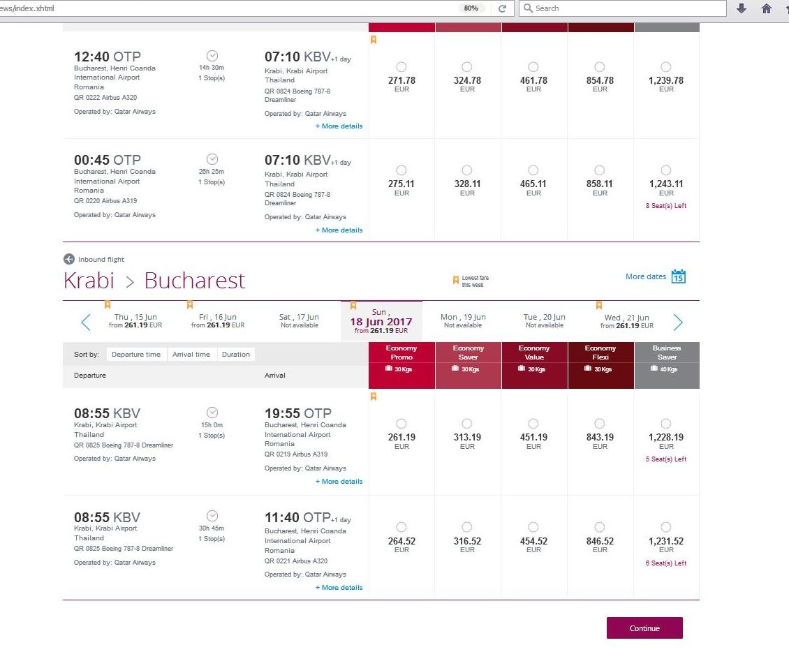 Zbor QATAR Airways Bucuresti - Doha - Krabi Thailanda 40