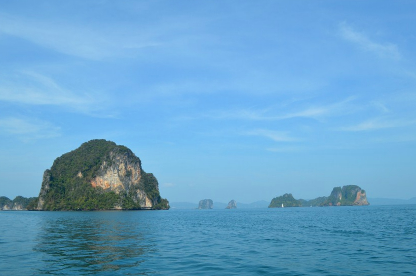 Krabi cu barca long-tail in golful Phang Nga 1