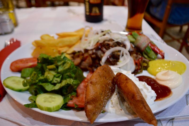 Taverna Corfu Spiros Palaiokastritsa 11 gyros