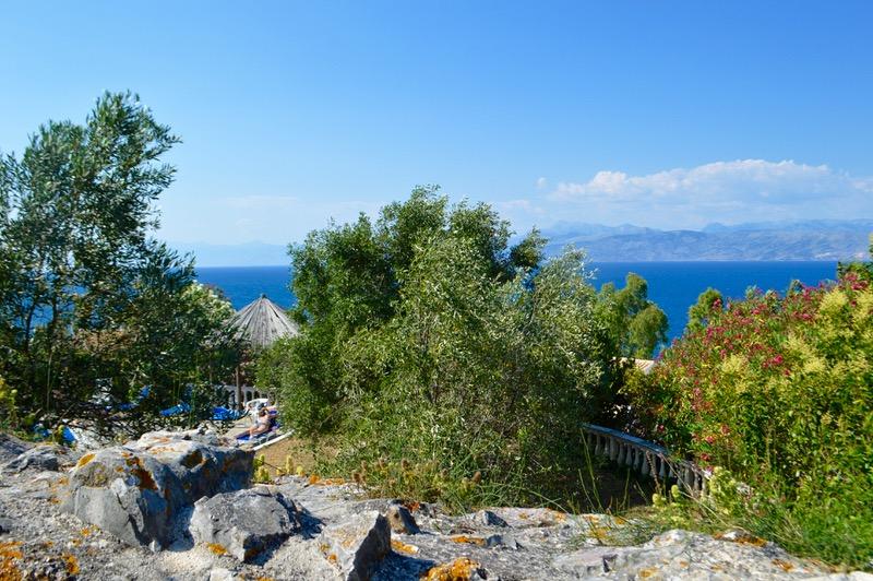Castelul bizantin Kassiopi Corfu vizitat