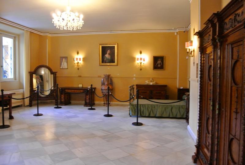 Palatul Achilleion din insula Corfu camera