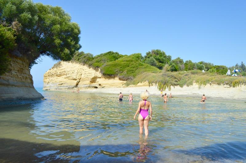 Canalul Iubirii Sidari Corfu dragostei plaja