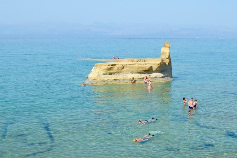 Canalul Iubirii Sidari Corfu dragostei plaja 5