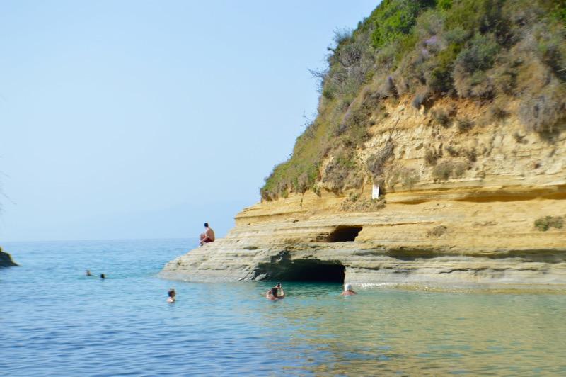 Canalul Iubirii Sidari Corfu dragostei plaja 7