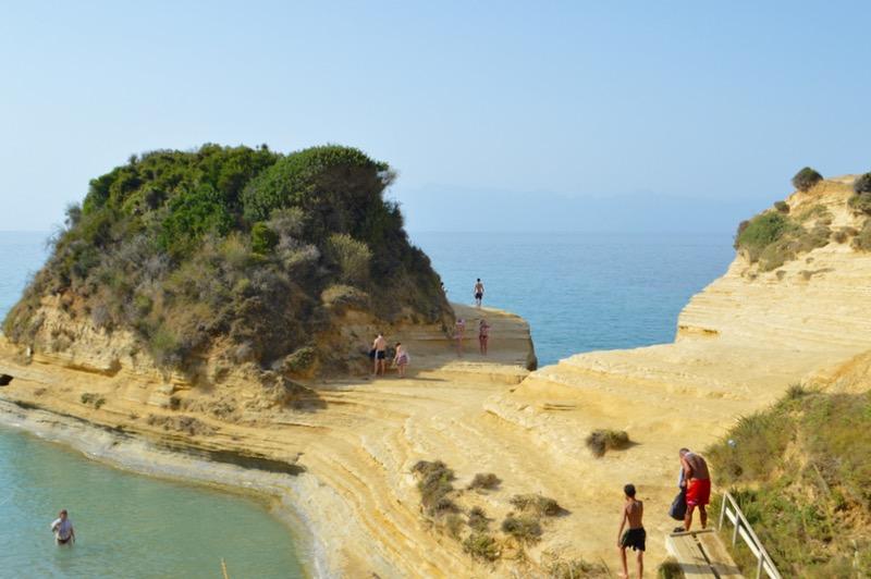 Canalul Iubirii Sidari Corfu dragostei plaja 8