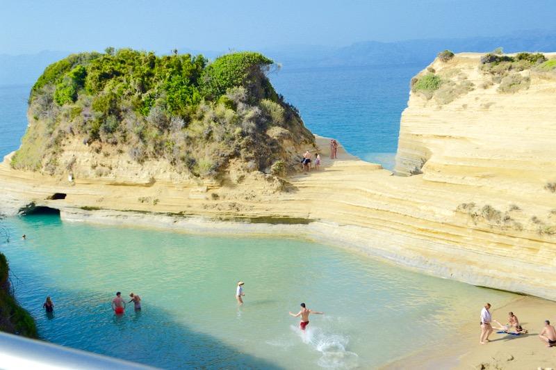 Canalul Iubirii Sidari Corfu dragostei plaja 9