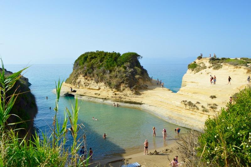 Canalul Iubirii Sidari Corfu dragostei plaja 13