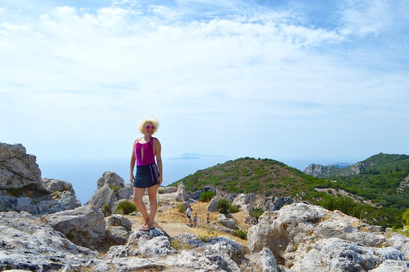 La Angelokastro castelul Ingerilor Corfu