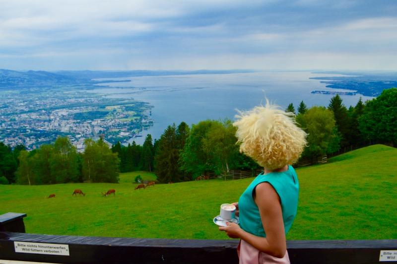 telecabina pe muntele Pfander Bregenz Vorarlberg vedere trei state