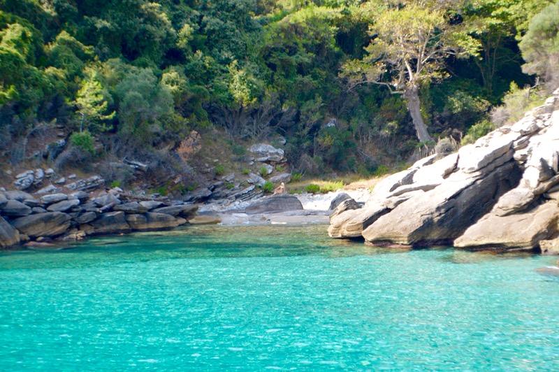 Plaja izolata Thassos Insula Krambousa