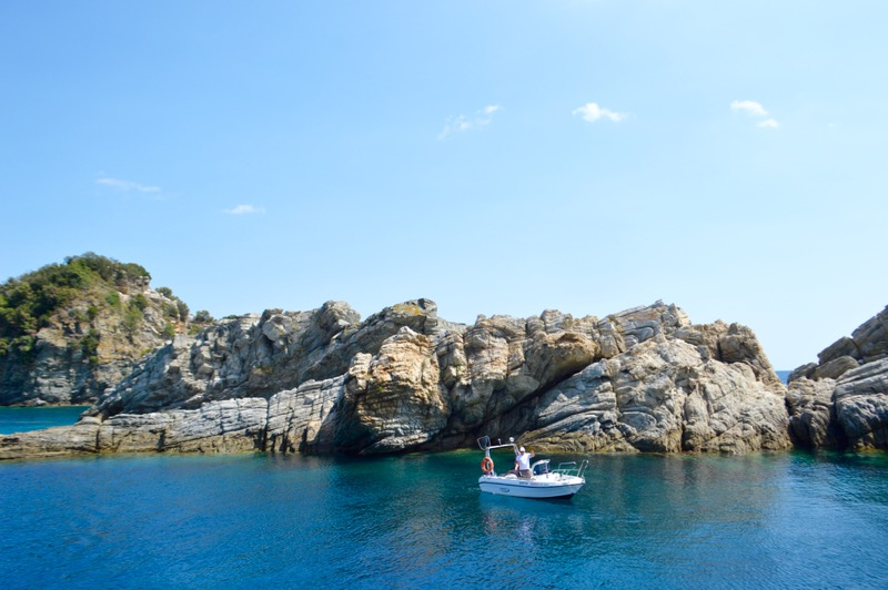 Plaja izolata Thassos Insula Krambousa 13