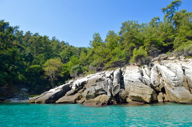 Plaja izolata Thassos Insula Krambousa 8