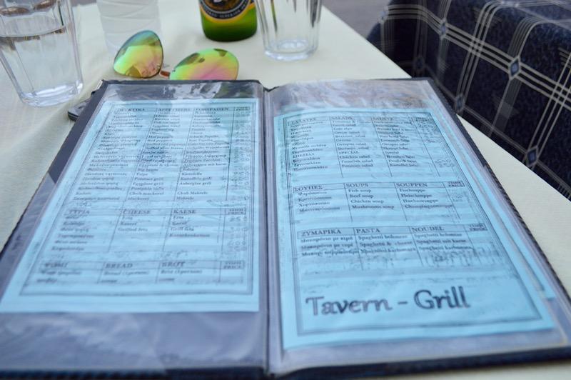 Taverna Koykoytsis Limenaria Thassos cina 3 meniu