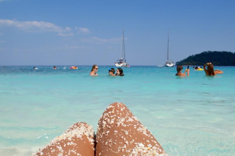 Fotografi insula Thassos plaja marmura