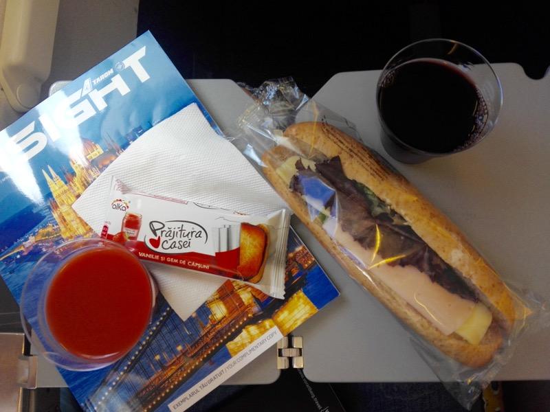 catering avion charter tarom