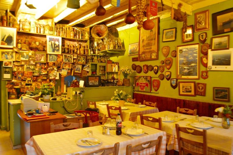 Taverna Tripa satul Kinopiastes Corfu