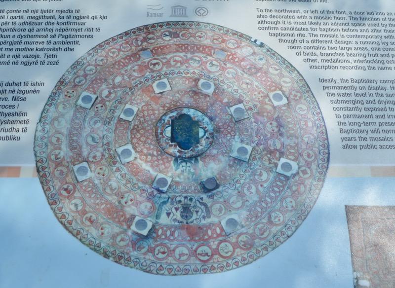 Situl antic Butrint Albania mozaic baptiseriu