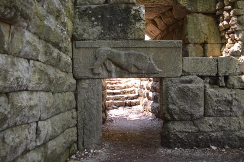 Situl antic Butrint Albania poarta leului