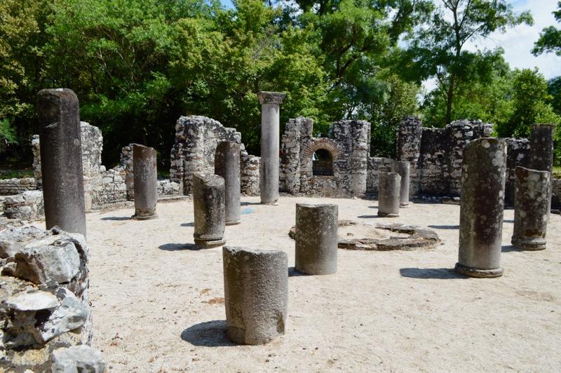 Situl antic Butrint Albania baptiseriul