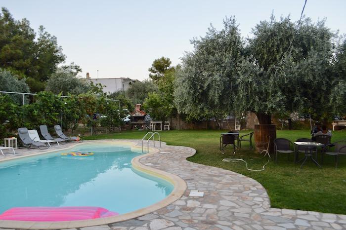 Cazare Potos Thassos la studiourile Francesca piscina