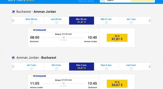 bilete avion bucuresti amman
