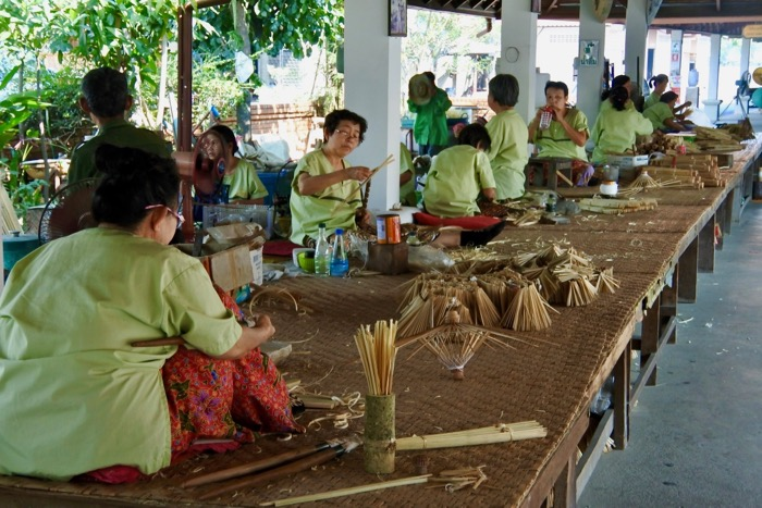 Rom Tawil Chiang Mai fabrica de umbrele hartie1